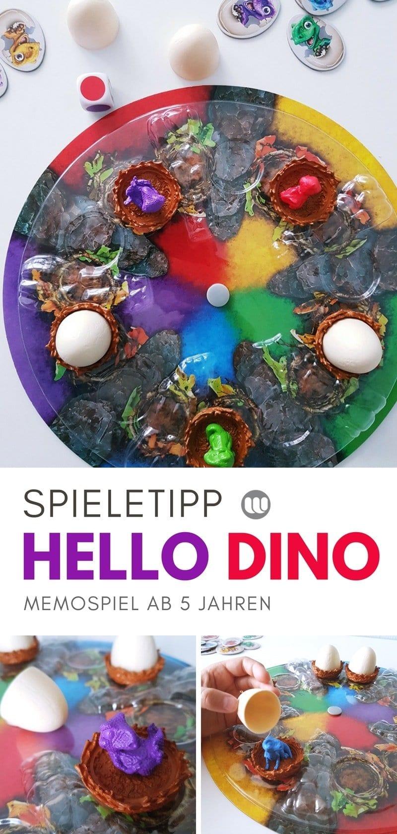 Spieletest: HELLO DINO das saurierstarke Memospiel mit 3D Spielbrett für Kinder