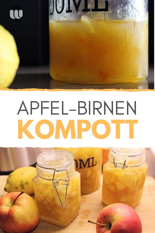 Herbstliches Rezept Kompott Apfel Birne