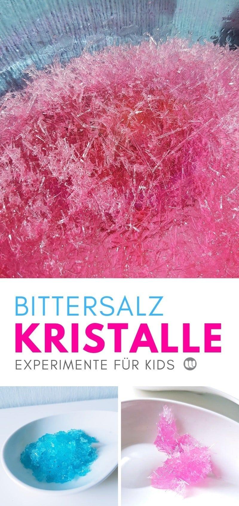 Bittersalz Kristalle züchten: Experiment für Kinder zum selber machen