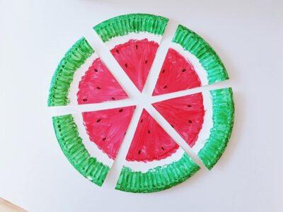 Bastelidee für Kinder: Girlande aus Pappteller selber machen