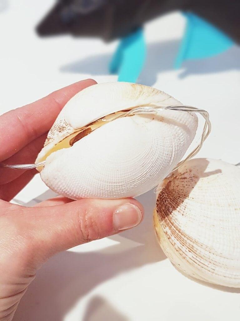 DIY Muschel-Lichterkette: Strand Dekoration basteln