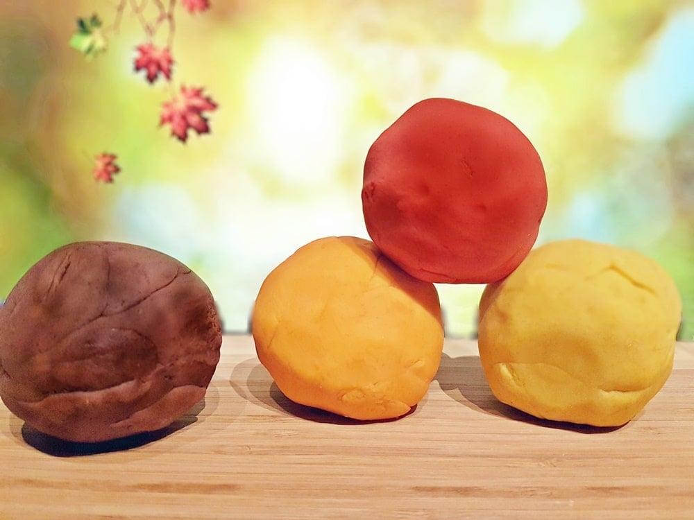 Duftknete in herbstlichen Farben der Natur selber machen 2