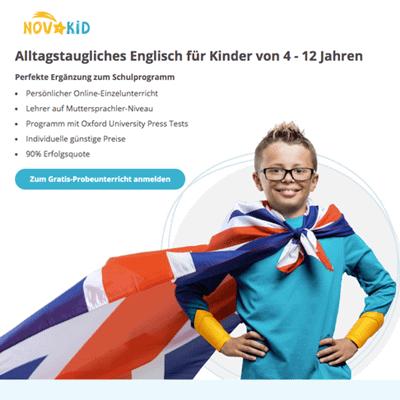 Online Englisch Sprachschule Kinder NovaKid