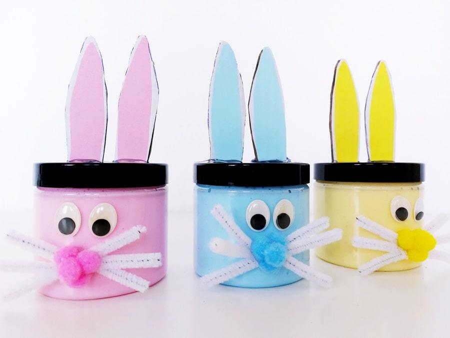 Ostern basteln Kinder Osterhase Geschenkidee Schleim DIY Easter Bunny Slime