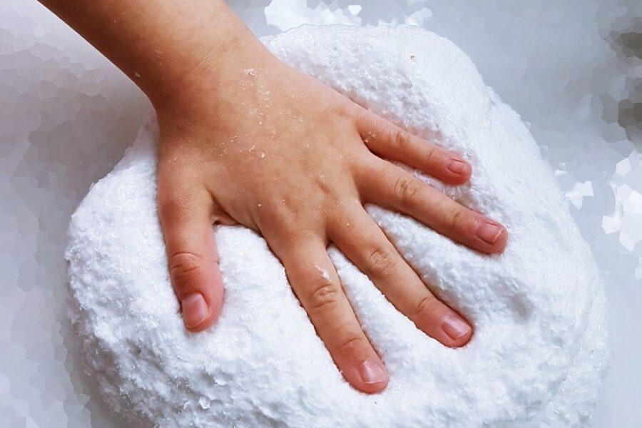 Schnee Schleim Rezept und Anleitung Snow Slime
