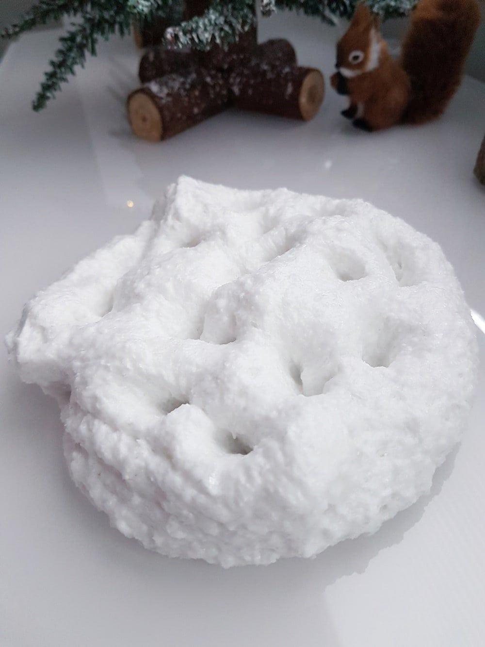 Rezept Anleitung: Schnee Schleim selber machen