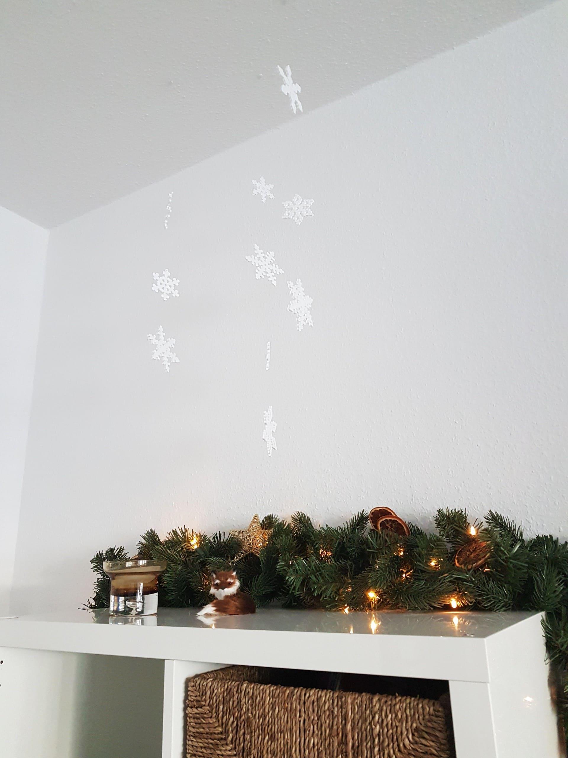 Winter Bastelanleitung: Bügelperlen Vorlage Weihnachten