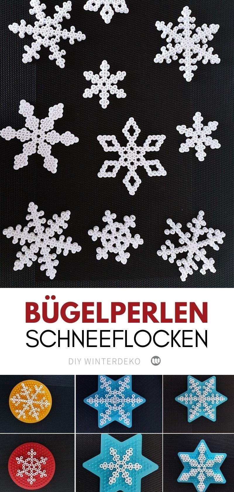 Schneeflocken Deko. Weihnachten steht schon vor der Tür, deshalb haben wir eine tolle DIY-Idee für die Bastelfans, die sich super einfach nachmachen lässt