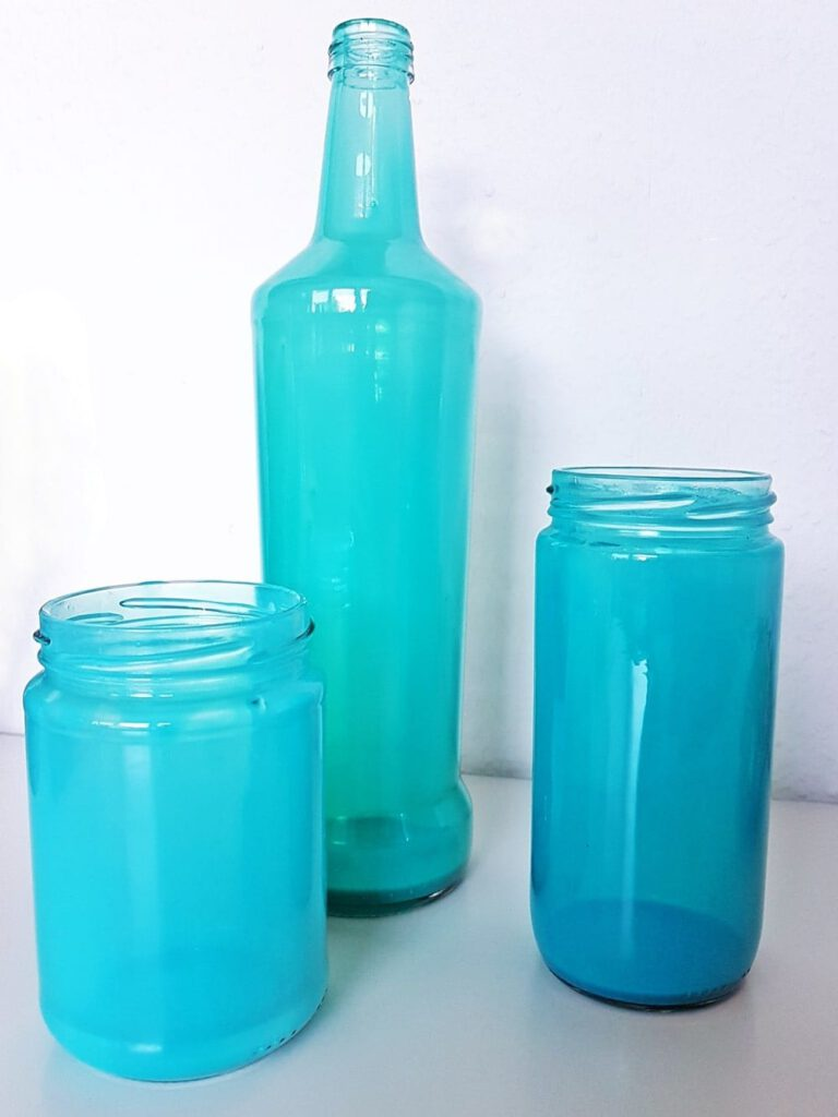 Maritime Deko Glas färben