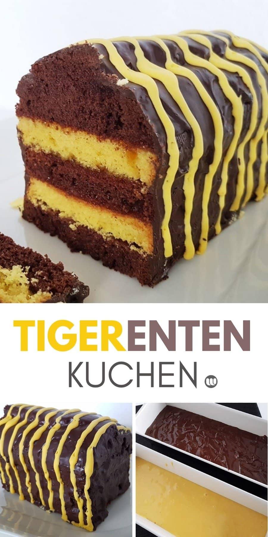 Besonderes Rezept für Fans der Janosch Tigerente: Der Tigerenten-Kuchen ist ein origineller Geburtstagskuchen und Mitbringel für Schule und Kindergarten