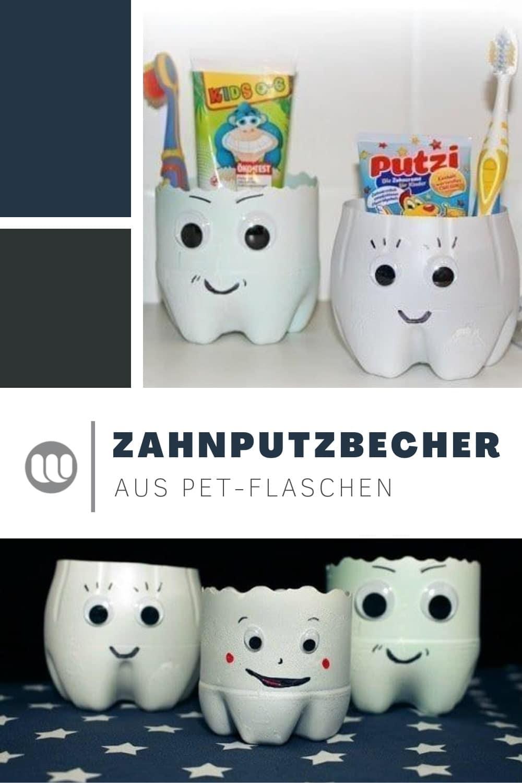 Anleitung DIY Kinder Zahnputzbecher basteln Upcycling