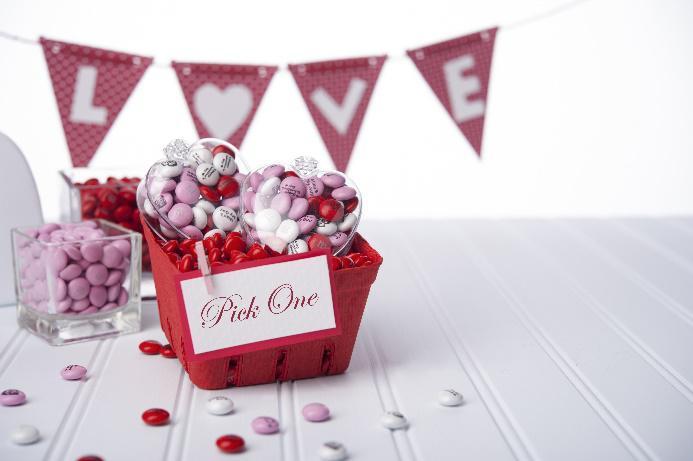 Geschenkidee für den Valentinstag. Personalisierte Schokolade für den Partner © My M&M´s