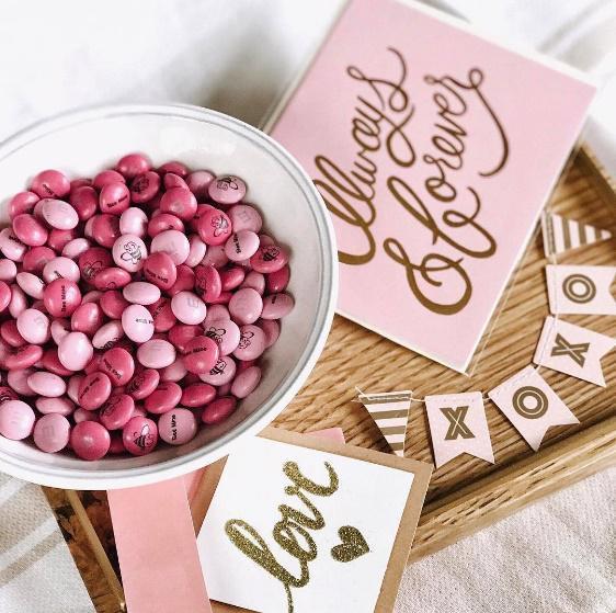 Personalisiertes Valentinstag Geschenk M&M