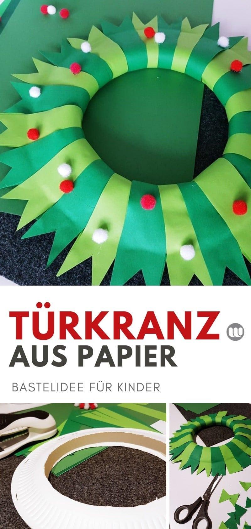 Weihnachtliche Papier Turkranze Einfache Ideen Zum Selbermachen