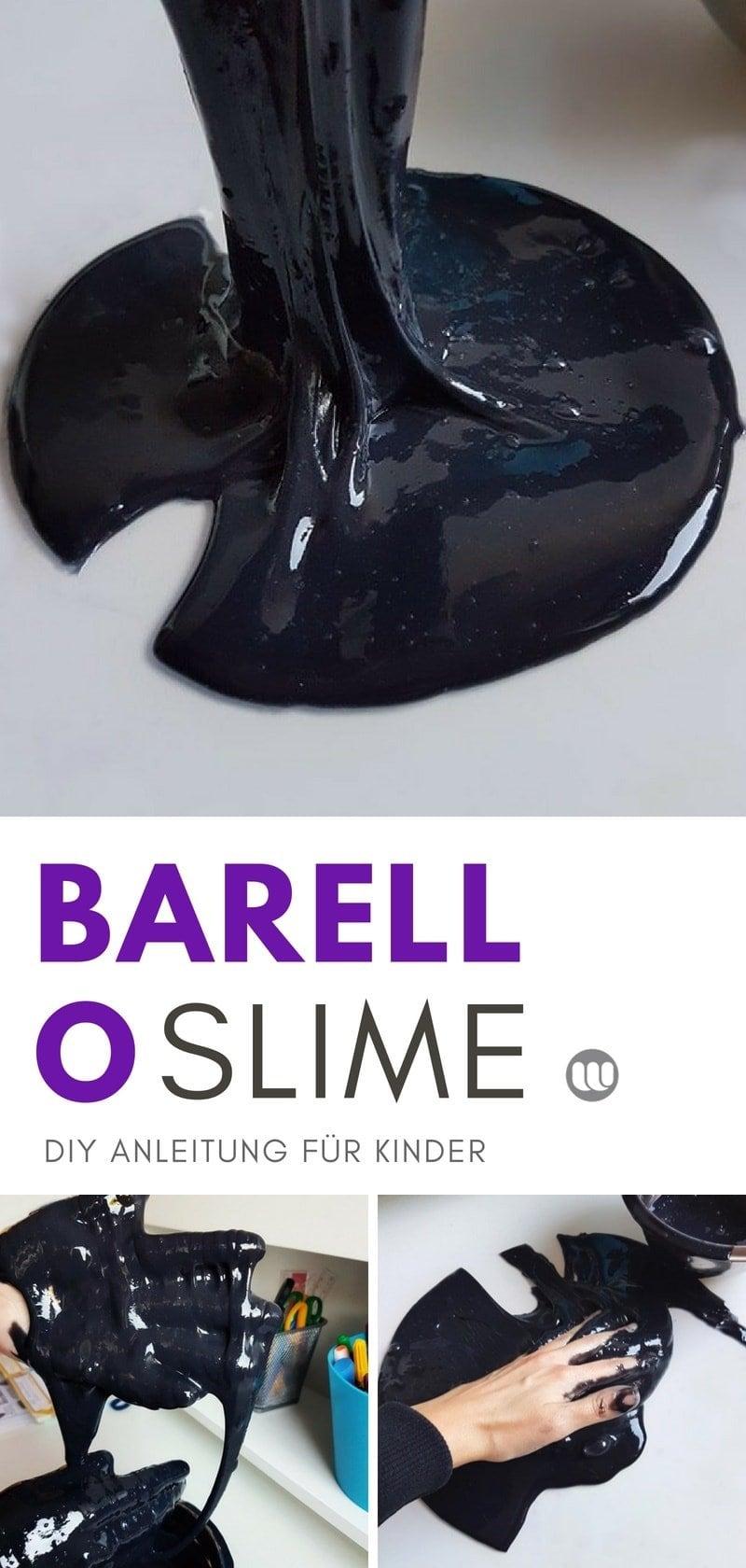 Barrel-O-Slime selber machen: Rezept und Anleitung für pechschwarzen Öl-Schleim #slime #selbermachen #slime_rezepte #schleim